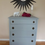 Dresser with Wallpaper Top