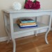 Light Gray Vintage Side Table