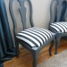 Chairs: Grey and Stripes