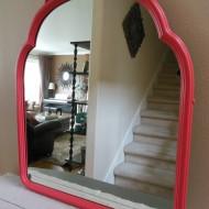 Antique Coral Mirror