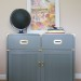Grey Lacquered Campaign Cabinet
