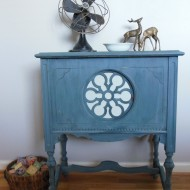 Oiled vs. Waxed Milk Paint: Peacock Nightstand
