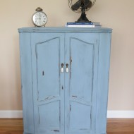 Light Blue French Cabinet