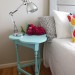 Turquoise Clover Side Table