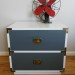 Grey and White Campaign Nightstand