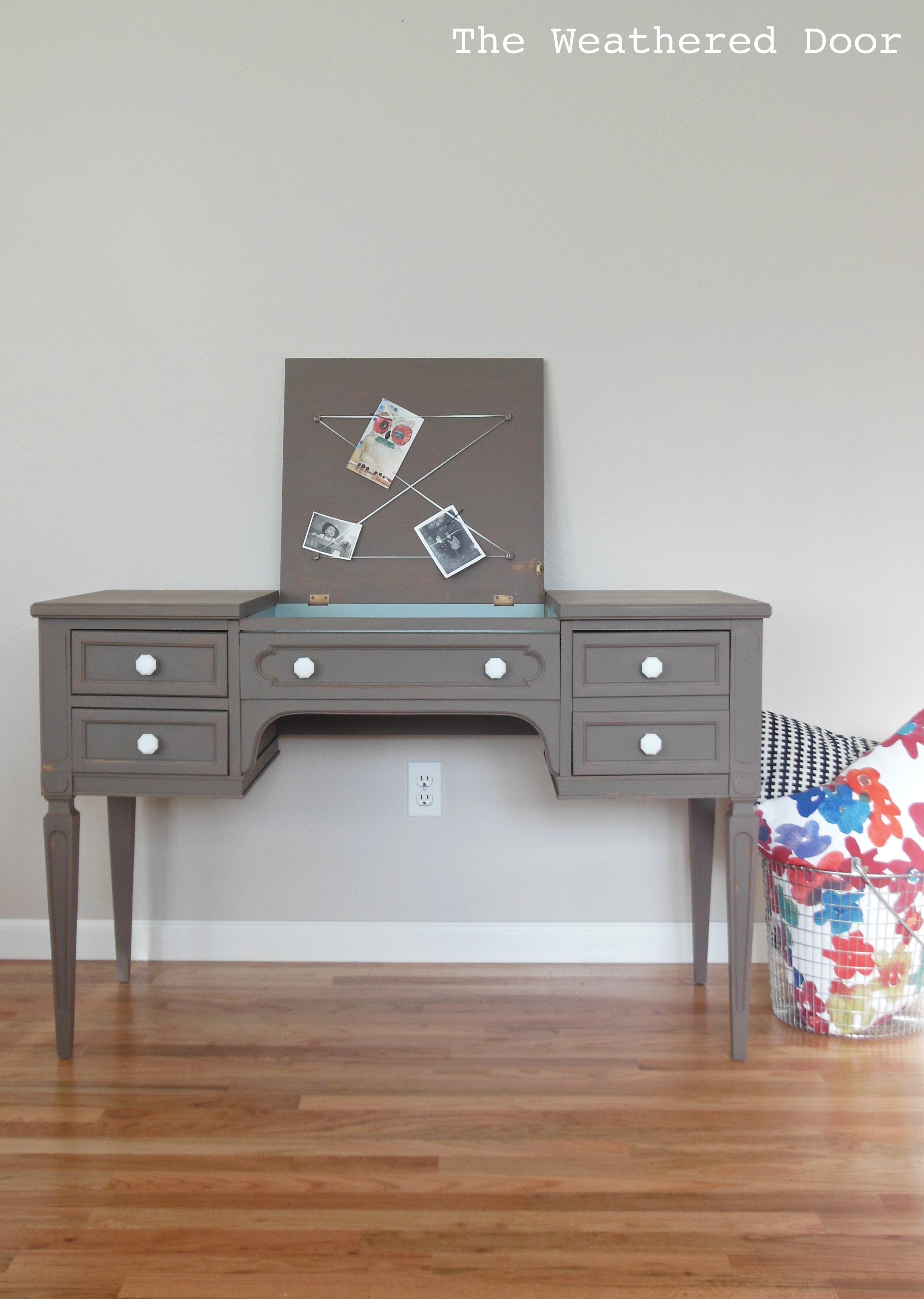 Vintage Blue Desk