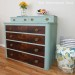 Duck Egg Dresser with Wood Drawers