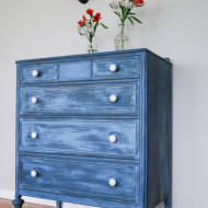 A Layered Blue Dresser and a Happy Accident