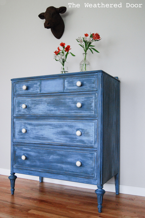 A Layered Blue Dresser And A Happy Accident The