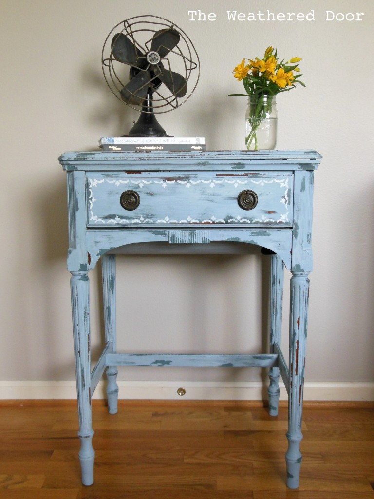 Experimenting With Milk Paint On A Sewing Cabinet The