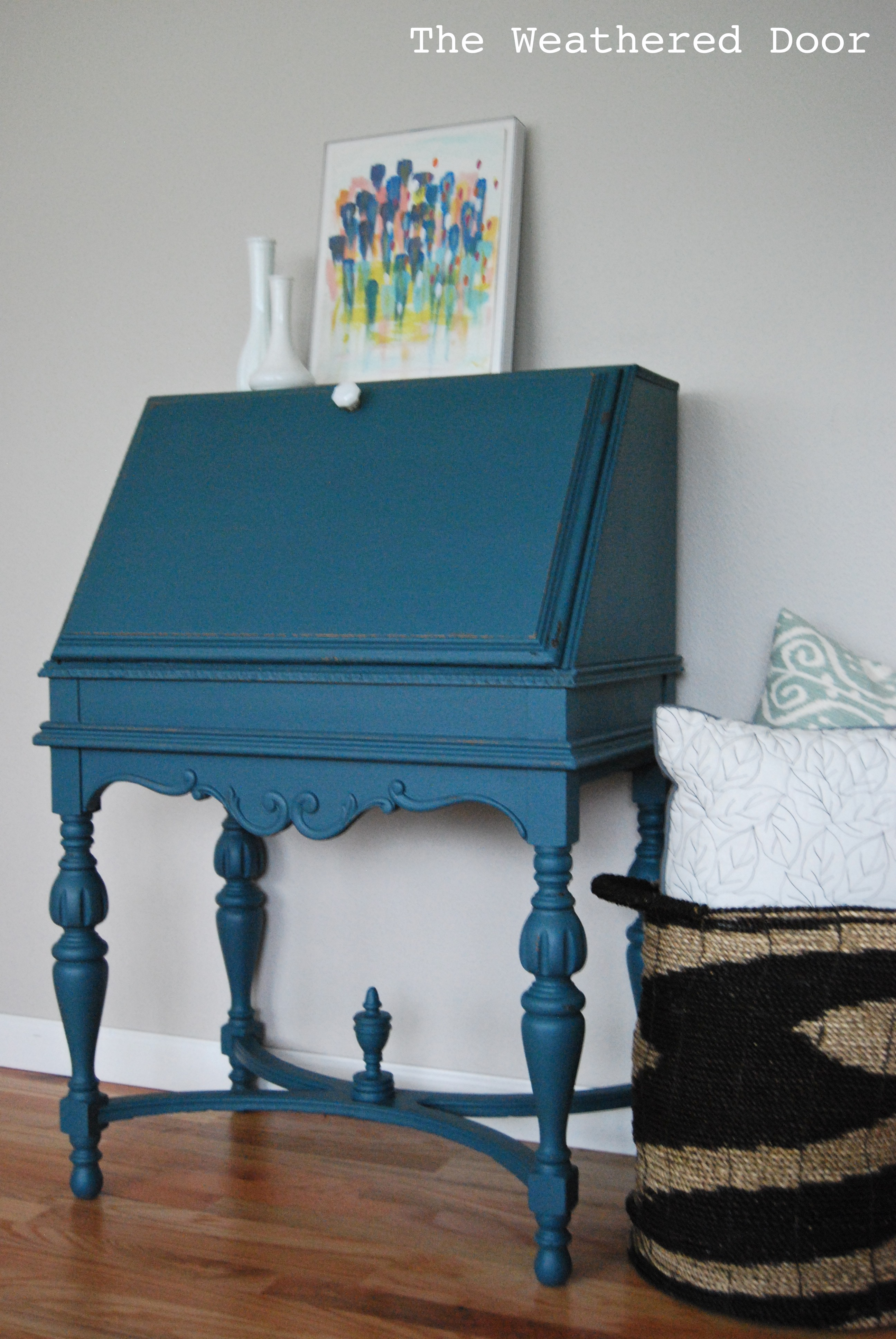 Teal And Grey Dresser