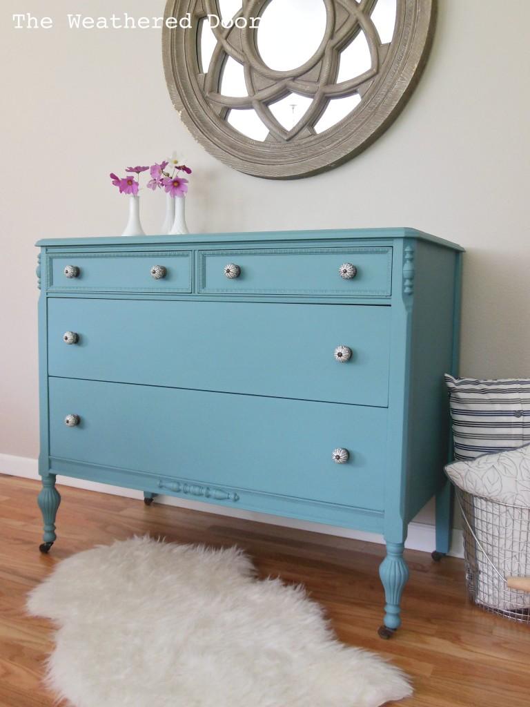 Blue And White Dresser