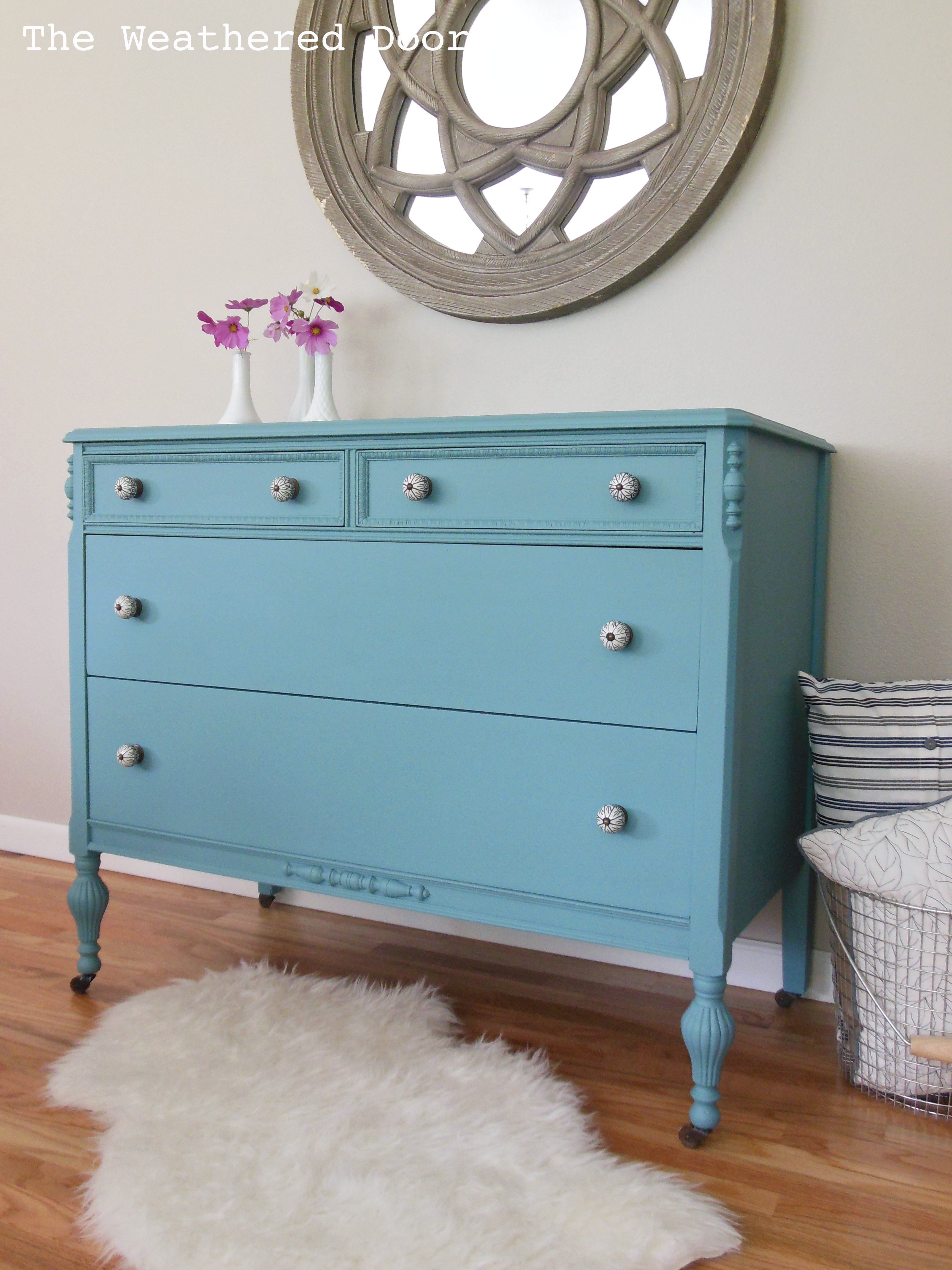 a bayside blue dresser back by popular demand the weathered door