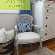 How to: upholstering a [french] chair