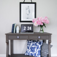 Empire Writing Desk in Driftwood