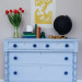 A Light Blue Empire Dresser with Anthropologie Knobs