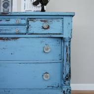 Chippy Blue Empire Dresser in MMS Milk Paint