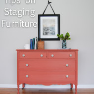 Staging furniture for photos