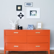 Before & After: Persimmon Mid Century Modern Dresser