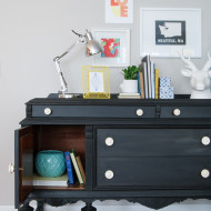 Furniture Reveal: Black Milk Paint Buffet
