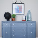 Blue-Grey Antique Hepplewhite Buffet [Before & After]