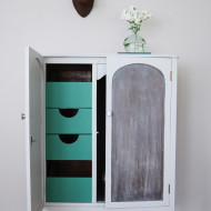 A Grey Cabinet with Washed Doors (Before & After)