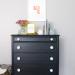Furniture Reveal: Pitch Black Milk Paint Dresser
