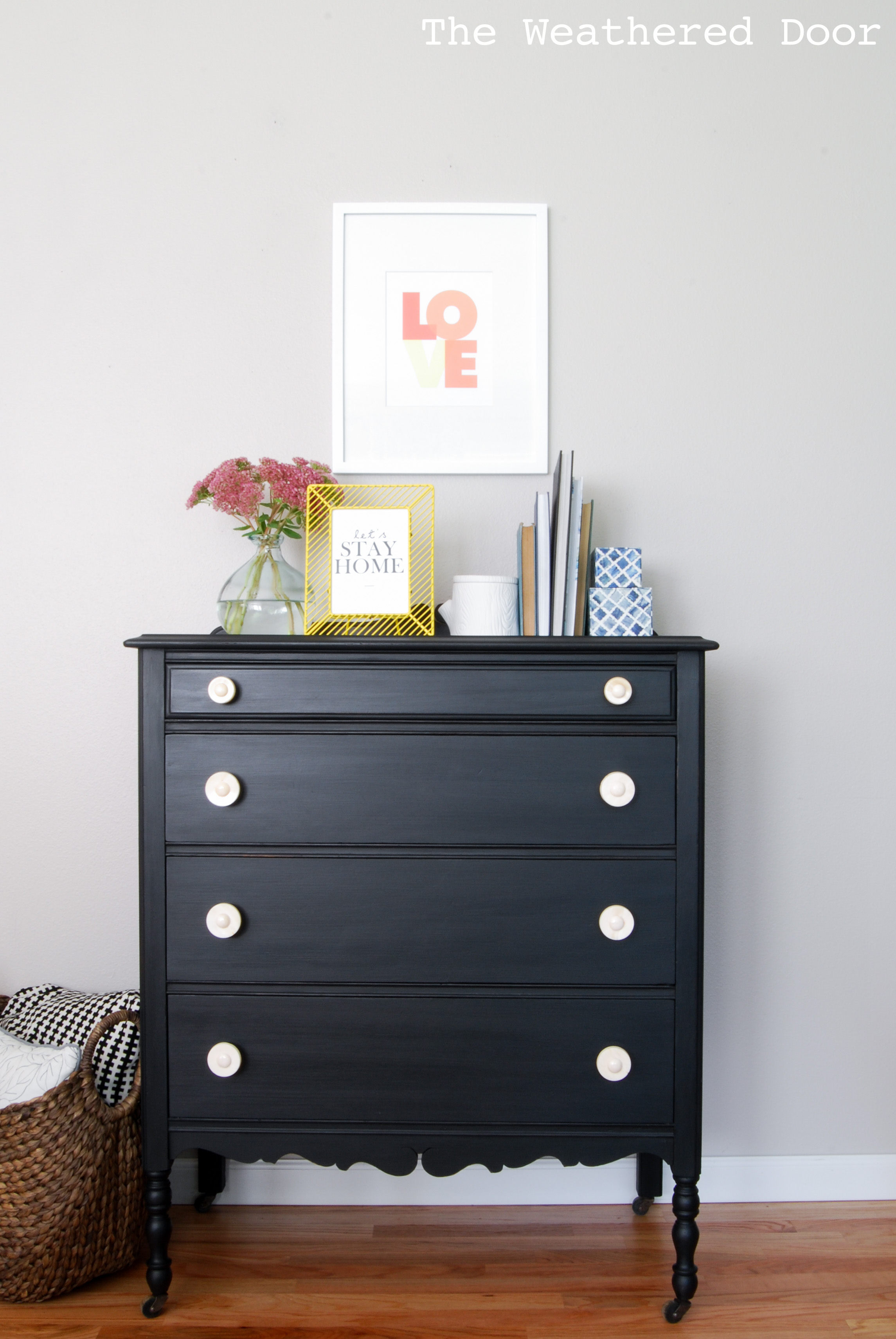 Furniture Reveal Pitch Black Milk Paint Dresser The