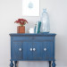 Before & After: Soldier Blue Talking Machine Cabinet