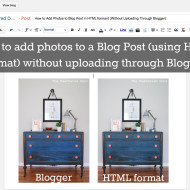 How to Add Photos to Blog Post (using HTML formant) without Uploading Through Blogger