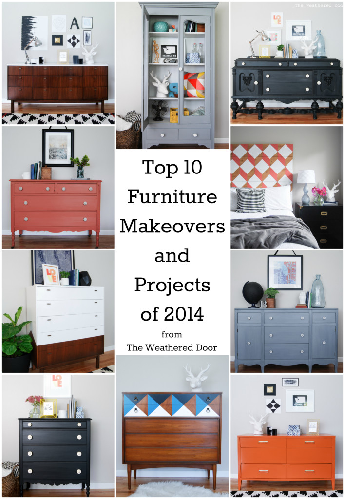 Top Ten Furniture Makeovers And Projects Of 2014 The