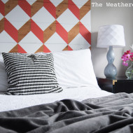 Coral Geometric Headboard (UO Knock-Off for under $100)