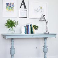 Trestle Table in Persian Blue