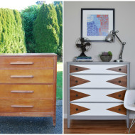 Before & After: Mod Geometric Dresser Makeover