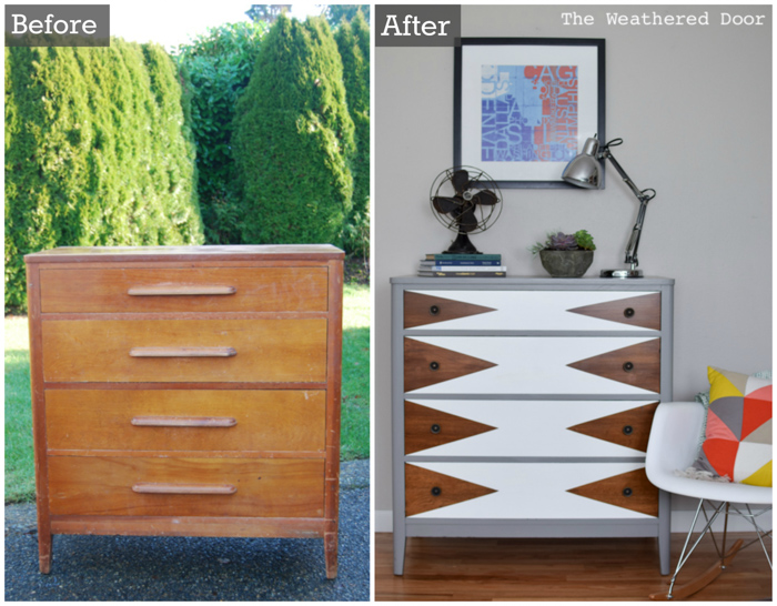 Before & After Mod Triangle Dresser from theweathereddoor.com-1