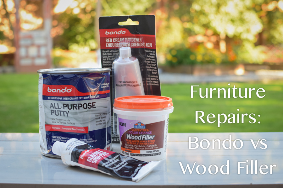 Furniture Repairs: Bondo vs Wood Filler from The Weathered Door