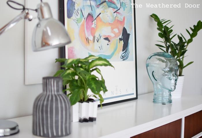 Gloss white and java mid century dresser WD-6