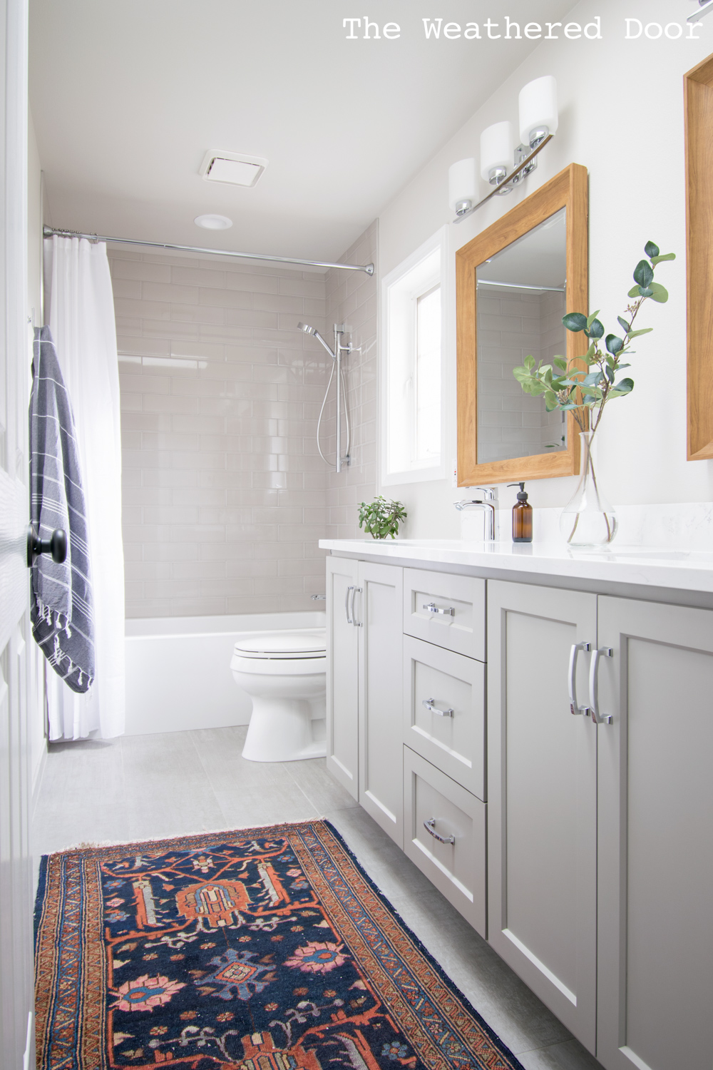 Gray And White Guest Bathroom Reveal The Weathered Door