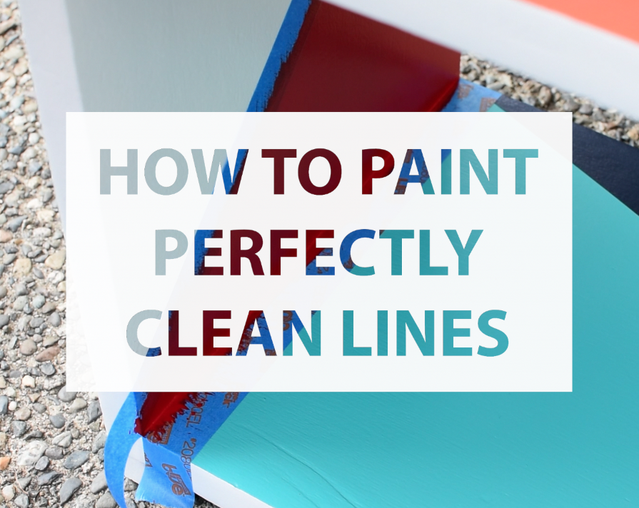 Great Video Tutorial on how to paint perfectly clean lines on furniture