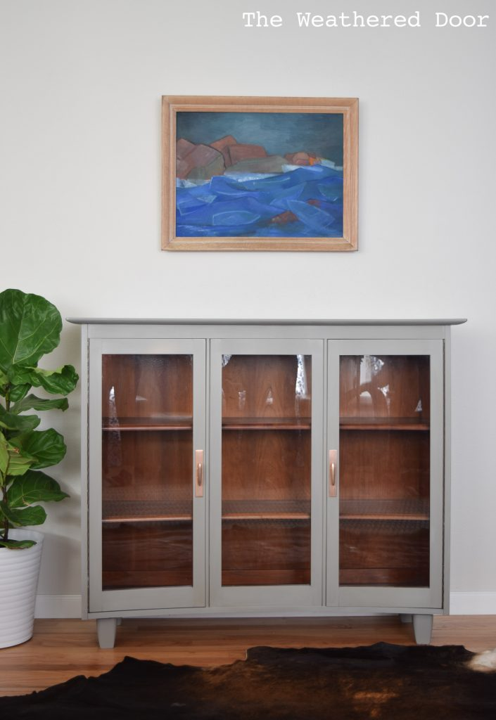 A China Hutch Turned Modern Cabinet And Bleed Through