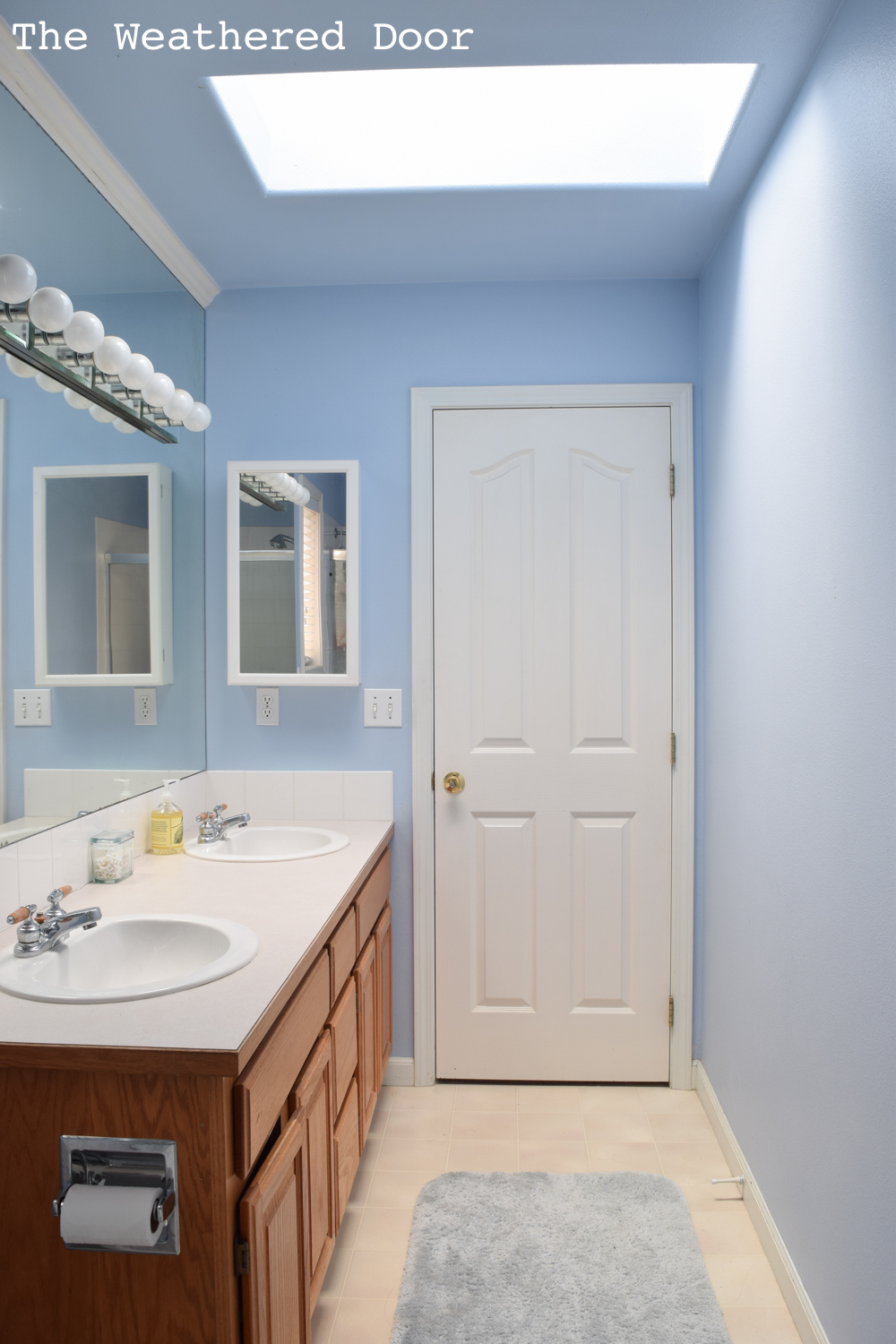 Gray and White Guest Bathroom Reveal - The Weathered Door