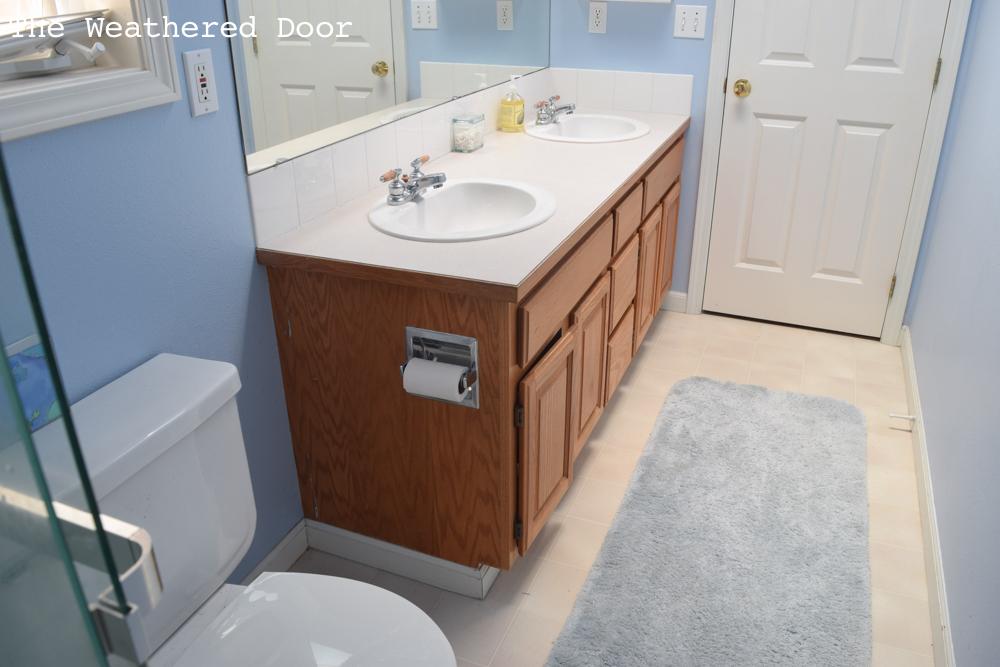 One Room Challenge Guest Bathroom Makeover Week The Weathered - One week bathroom