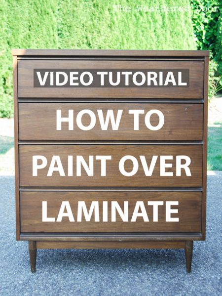 How to Paint Over Laminate and Plastic Video Tutorial