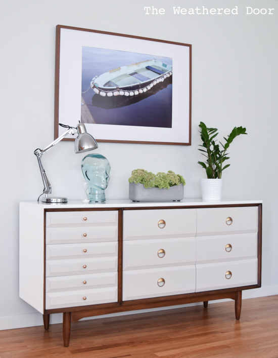 Mid century modern la period dresser makeover the for Mid modern period