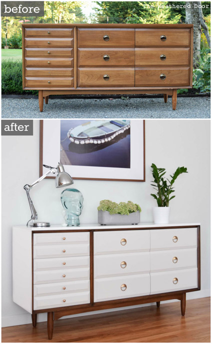 LA Period Mid Century Modern Dresser before and after