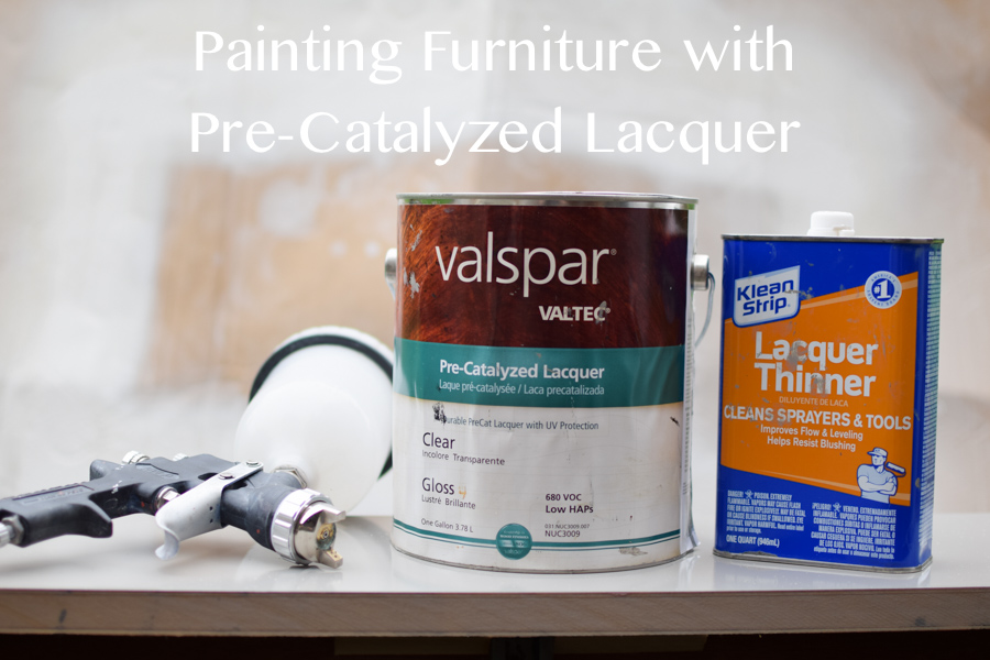 Painting Furniture with Pre-Catalyzed Lacquer