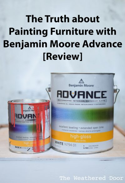 The Truth about Painting Furniture with Benjamin Moore Advance - Paint Review