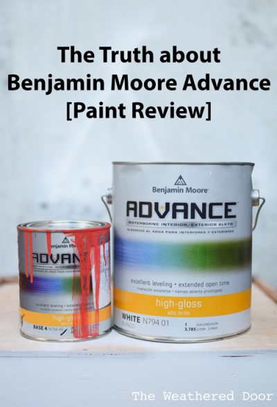 The Truth About Benjamin Moore Advance - The Weathered Door