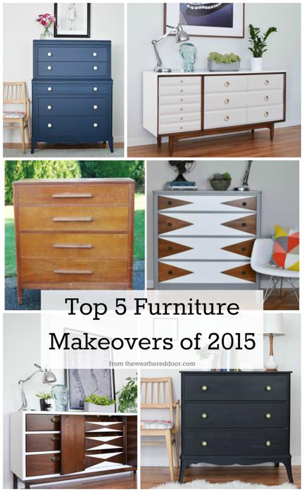 Top 5 Furniture Makeovers of 2015 from The Weathered Door   theweathereddoor.com-1