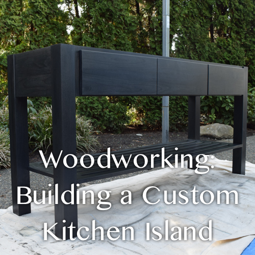 Woodworking Building A Alder Custom Kitchen Island From The Weathered Door